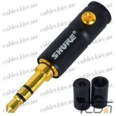 """Штекер 3,5мм стерео """"Shure"""", металлический корпус, чёрный"""
