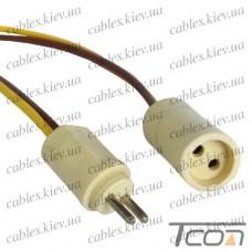 Разъём автомобильный 2-х контактный, с кабелем, Tcom