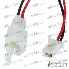 Разъём автомагнитолы 2-х контактный, с кабелем, Tcom