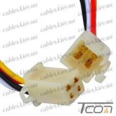 Разъём автомагнитолы 4-х контактный, с кабелем, Tcom