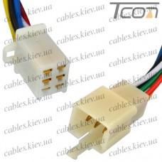 Разъём автомагнитолы 6-и контактный, с кабелем, Tcom