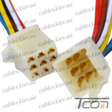Разъём автомагнитолы 9-и контактный, с кабелем, Tcom