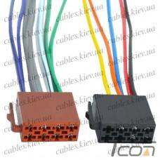 Разъём автомагнитолы ISO (гнездо) с кабелем 0,2 метра (набор 2шт.), Tcom