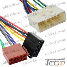 Разъём автомагнитолы Daewoo ISO с кабелем 0,2 метра (алюминиевый), Tcom
