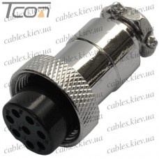 Разъём MIC 328, (гнездо), под кабель, 8pin, диам.-16мм, Tcom