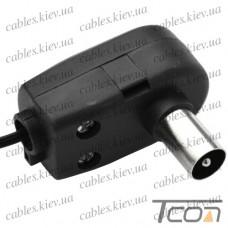 Штекер cимметризатор для блока питания к польской антенне с кабелем 1м, Tcom