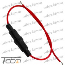 Держатель предохранителя (Fuse) 5х20мм, с кабелем, Tcom