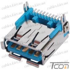 Гнездо USB 3.0 тип A, монтажное, Tcom (тип 2)