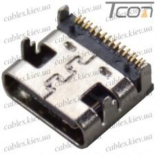 Гнездо USB type C монтажное, Tcom