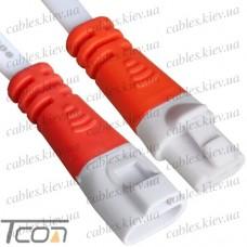 Разъёмы пыленепроницаемые IP60 3pin, с кабелем, белые, Tcom