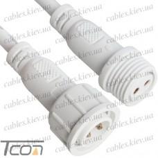 Разъёмы водонепроницаемые M18, 2pin, IP67, с кабелем, Tcom