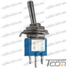 Тумблер SMTS-102 (ON-ON) 3-х контактный, 3А, 250VAC, Tcom