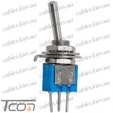 "Тумблер SMTS-102-A2 (ON-ON) ""Tcom"", 3-х контактный, 1,5A, 250VAC"