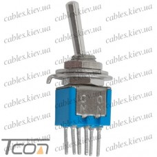 Тумблер SMTS-202-A2 (ON-ON) 6-и контактный, 1,5A, 250VAC, Tcom