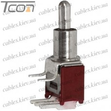 "Тумблер SMTS-103-2C3 (ON-OFF-ON) ""Tcom"", 3-х контактный, 1,5A, 250VAC"