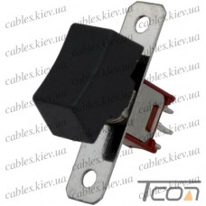 Тумблер с клавишей SRLS-102-A1 (ON-ON) 3-х контактный, 1,5A, 250VAC, Tcom