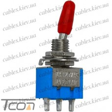 Тумблер MTS-102 (ON-ON) 3-х контактный, 3A, 250VAC, Tcom
