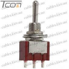 "Тумблер MTS-123 (ON)-OFF-(ON) ""Tcom"", 3-х контактный, 3A, 250VAC"