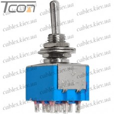 Тумблер MTS-303 (ON-OFF-ON) 9-и контактный, 3A, 250VAC, Tcom