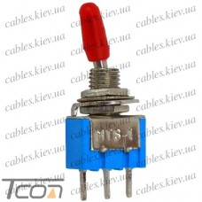 Тумблер MTS-102-А2 (ON-ON) 3-х контактный, 3A, 250VAC, Tcom