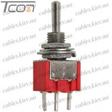Тумблер MTS-103-А2 (ON-OFF-ON) 3-х контактный, 3A, 250VAC, Tcom