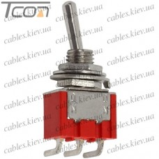 Тумблер MTS-102-C3 (ON-ON) 3-х контактный, 3A, 250VAC, Tcom