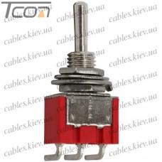 "Тумблер MTS-103-C3 (ON-OFF-ON) ""Tcom"", 3-х контактный, 3A, 250VAC"
