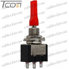 Тумблер MTS-112-E1 (ON-(ON) 3-х контактный, 3A, 250VAC, плоский, Tcom