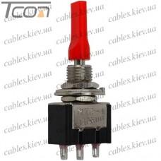 Тумблер MTS-113-E1 ON-OFF-(ON) 3-х контактный, 3A, 250VAC, плоский, Tcom