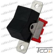 Тумблер с клавишей RLS-103-А1 (ON-OFF-ON) 3-х контактный, 3A, 250VAC, чёрный, Tcom