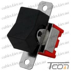 Тумблер с клавишей RLS-203-А1 (ON-OFF-ON) 6-и контактный, 3A, 250VAC, чёрный, Tcom
