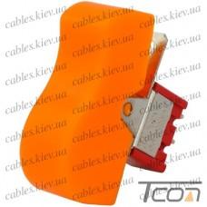 Тумблер с клавишей RLS-103-D1 (ON-OFF-ON) 3-х контактный, 3A, 250VAC, жёлтый, Tcom