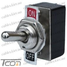 "Тумблер KN3-1 (ON-OFF) ""Tcom"", 2-х контактный, 2A, 250VAC"