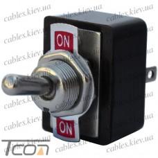 Тумблер KN3-3 (ON-ON) 6-и контактный, 3A, 250VAC, Tcom