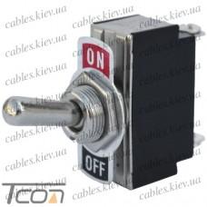 Тумблер KN3(B)-101A (ON-ОFF) 2-х контактный, 6A, 250VAC, Tcom