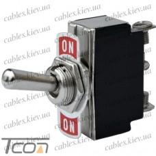 Тумблер KN3(B)-102 (ON-ON) 3-х контактный, 6A, 250VAC, Tcom