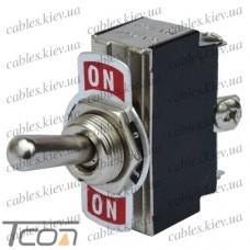 "Тумблер KN3(B)-103 (ON-OFF-ON) ""Tcom"", 3-х контактный, 6A, 250VAC"