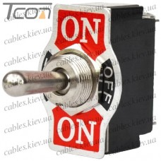 "Тумблер KN3(B)-123A (ON)-OFF-(ON) ""Tcom"", 3-х контактный, 10A, 250VAC"