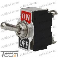 "Тумблер KN3(B)-201 (ON-OFF) ""Tcom"", 4-х контактный, 6A 250VAC"