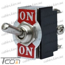 Тумблер KN3(B)-202 (ON-ON) 6-и контактный, 6A 250VAC, Tcom