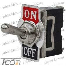 "Тумблер KN3(С)-101А (ON-OFF) ""Tcom"", 2-х контактный, 10А, 250VAC"