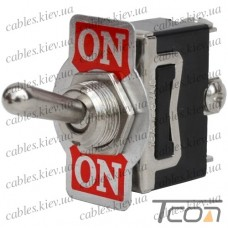Тумблер KN3(С)-112A (ON-(ON)) 3-х контактный, 10А, 250VAC, Tcom