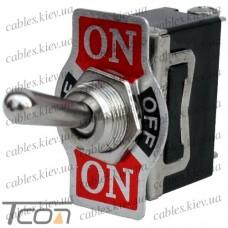 "Тумблер KN3(С)-113A ON-OFF-(ON) ""Tcom"", 3-х контактный, 10А, 250VAC"