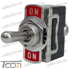 Тумблер KN3(С)-123A (ON)-OFF-(ON) 3-х контактный, 10А, 250VAC, Tcom
