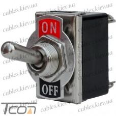 "Тумблер KN3(С)-201A (ON-OFF) ""Tcom"", 4-х контактный, 10А, 250VAC"