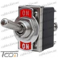 Тумблер KN3(С)-202A (ON-ON) 6-и контактный, 10А, 250VAC, Tcom