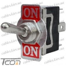 Тумблер KN3(С)-102AР (ON-ON) 3-х контактный, 10А, 250VAC, Tcom
