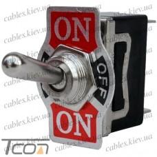 Тумблер KN3(С)-103AР (ON-OFF-ON) 3-х контактный, 10А, 250VAC, Tcom