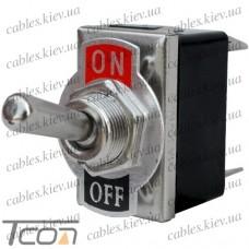 Тумблер KN3(С)-201Р (ON-OFF) 4-х контактный, 10А, 250VAC, Tcom