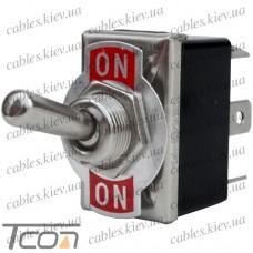 Тумблер KN3(С)-202Р (ON-ON) 6-и контактный, 10А, 250VAC, Tcom